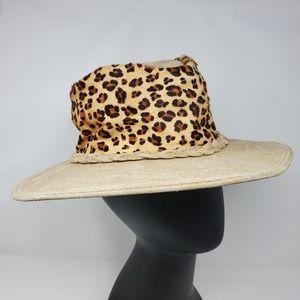 Minnetonka Outback Cowhide Hair On Leopard Hat